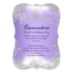 Quinceanera Winter Wonderland Lilac Purple Snow 13 Cm X 18 Cm Invitation Card