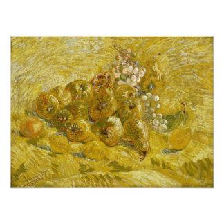 Quinces Lemons Pears Grapes by Van Gogh Art Photo