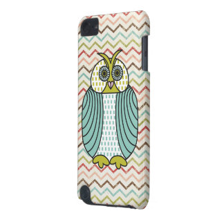 Quirky Owl Colorful Modern Chevron Pattern iPod Touch (5th Generation) Cases