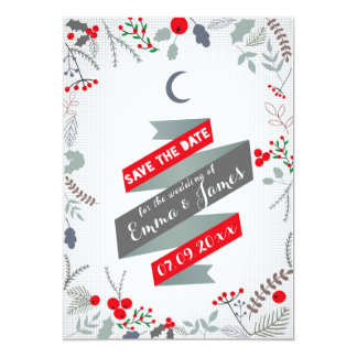 Quirky Winter Save the Date Invitation