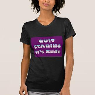 Quit Staring, It's Rude (Transgender Pride) T Shirts