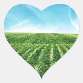 Quite land heart sticker