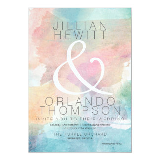 Quite Simply Watercolor Wedding Invitation 2