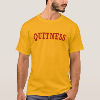 Quitness - T-shirt wine lettering