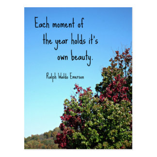 Quote about nature by Emerson. Postcard