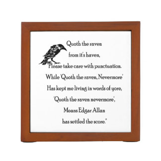 Quoth the Raven From it's Haven Desk Organiser