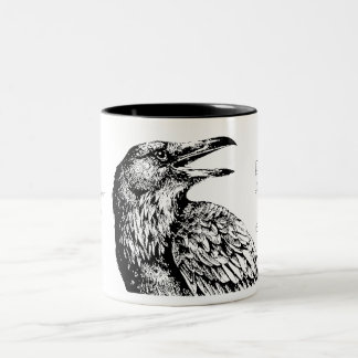 """'Quoth the Raven, """"Nevermore""""', Two-Tone Coffee Mug"""