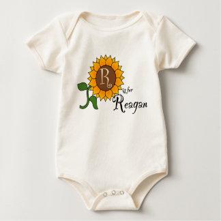 R is for Reagan Cute Sunflower T-shirt