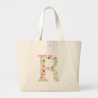 R monogram large tote bag