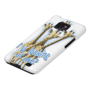 r ulooking at me giraffes samsung galaxy SII cover