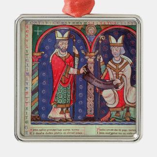 Rabanus Maurus offering his Book Christmas Ornament