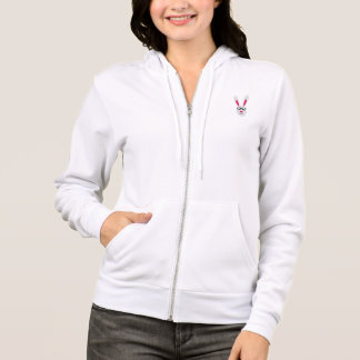 Rabbit with glasses hoodie