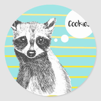 Raccoon_Cookies_113323534.ai Classic Round Sticker