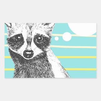 Raccoon_Cookies_113323534.ai Rectangular Sticker
