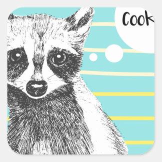 Raccoon_Cookies_113323534.ai Square Sticker