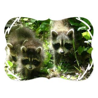 Raccoon Habitat Personalized Invitations