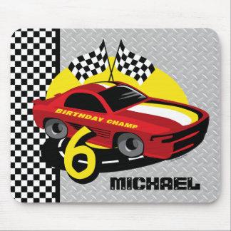 Race Car 6th Birthday Mousepad