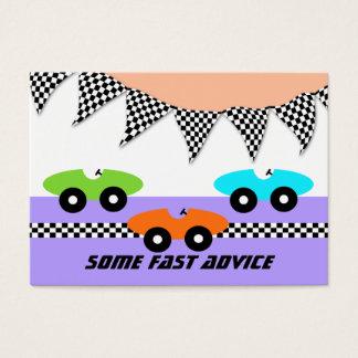Race Car Baby Shower Advice Cards