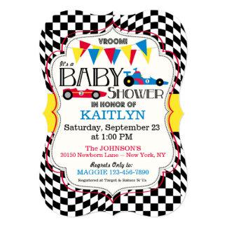 Race Car Baby Shower Invitation Card