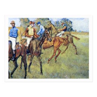 Racehorses by Edgar Degas Postcard