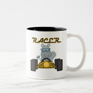 Racing Hippo Tshirts and Gifts Two-Tone Coffee Mug