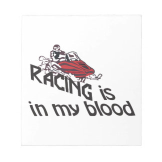 Racing In My Blood Notepad