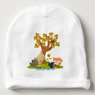 Racoon, Deer, Owl, Skunk, Squirrel Personalized Baby Beanie