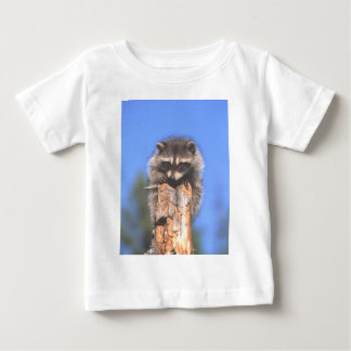 Racoon on Stump Baby T-Shirt