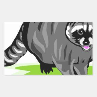 Racoon.png Rectangular Sticker