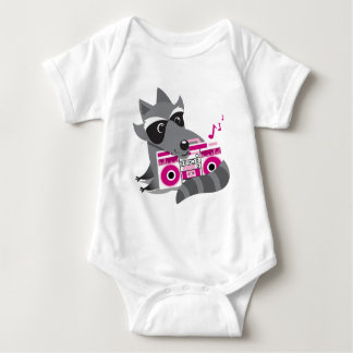 racoon rock baby bodysuit