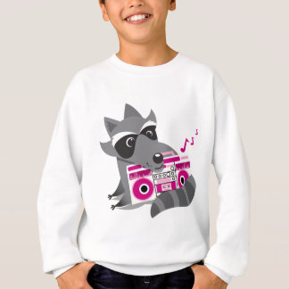racoon rock sweatshirt