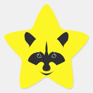 Racoon Star Sticker