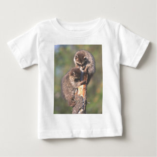 Racoons on Stump Baby T-Shirt