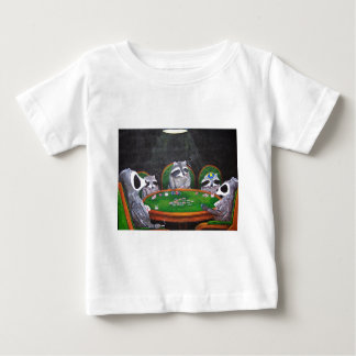 Racoons Playing Poker Baby T-Shirt