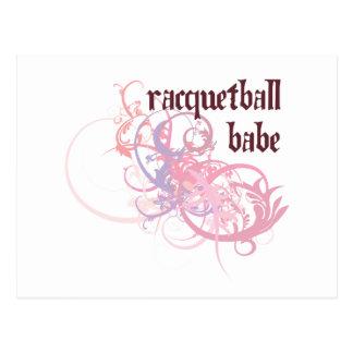 Racquetball Babe Postcard