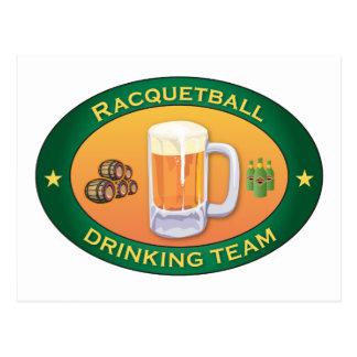 Racquetball Drinking Team Postcard