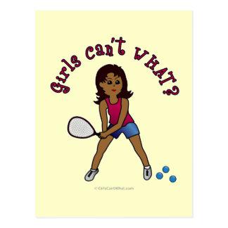Racquetball Girl (Dark) Postcard