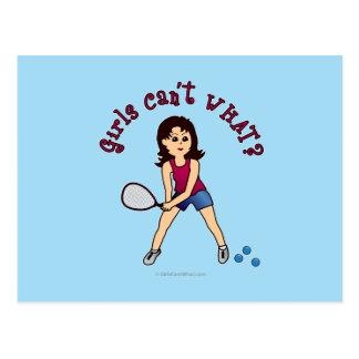 Racquetball Girl (Light) Postcard