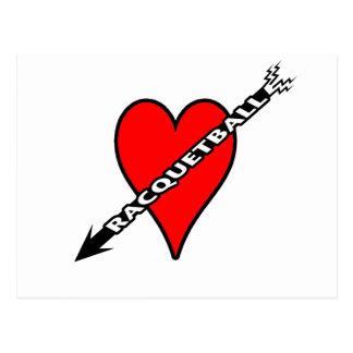 Racquetball Heart Postcard