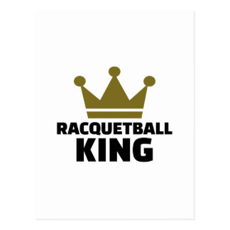 Racquetball king postcard