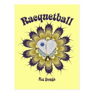 Racquetball Not Drugs Postcard
