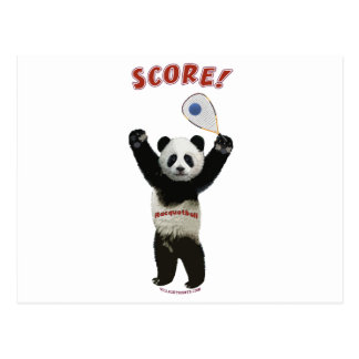 Racquetball Panda Score Postcard