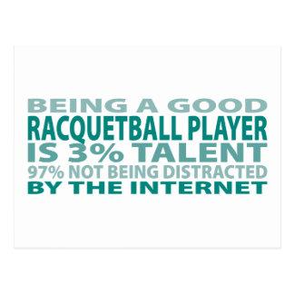 Racquetball Player 3% Talent Postcard
