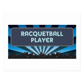 Racquetball Player Marquee Postcard