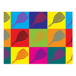 Racquetball Pop Art Postcard