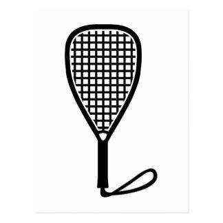 Racquetball racket postcard