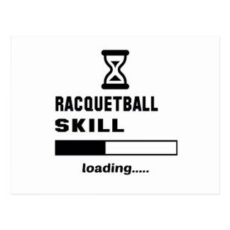 Racquetball skill Loading...... Postcard