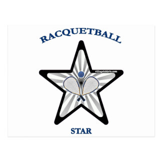 Racquetball Star Postcard