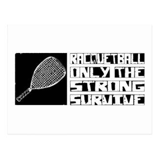 Racquetball Survive Postcard