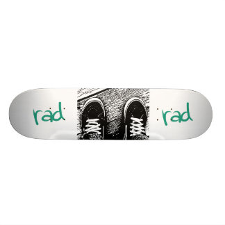 Rad skate shoe design skateboard decks